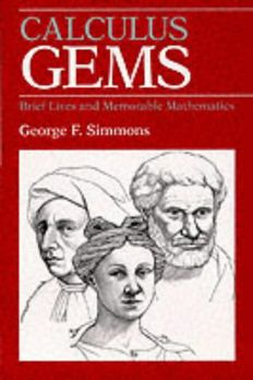 Calculus Gems book cover