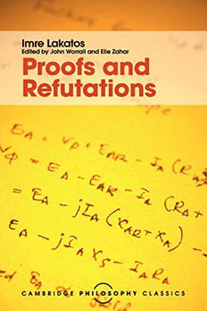 Proofs and Refutations book cover