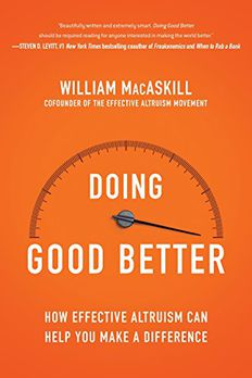 Doing Good Better book cover
