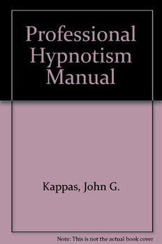 Professional Hypnotism Manual book cover