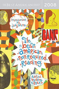 The Best American Nonrequired Reading 2008 book cover