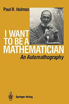 I Want to be a Mathematician book cover