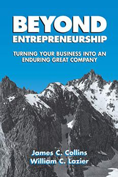 Beyond Entrepreneurship book cover