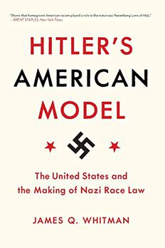Hitler's American Model book cover