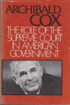 The role of the Supreme Court in American government book cover