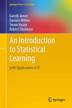 An Introduction to Statistical Learning book cover