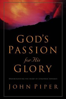 God's Passion for His Glory book cover