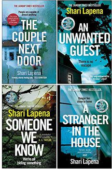Shari Lapena Collection 4 Books Set (The Couple Next Door, An Unwanted Guest, Someone We Know, A Stranger in the House) book cover