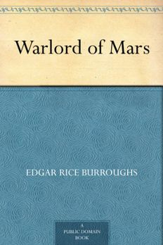 The Warlord of Mars book cover