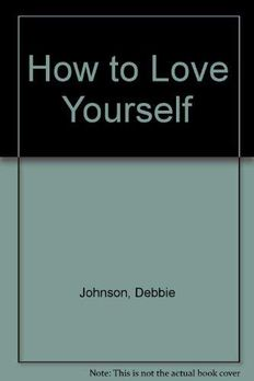 How to Love Yourself book cover