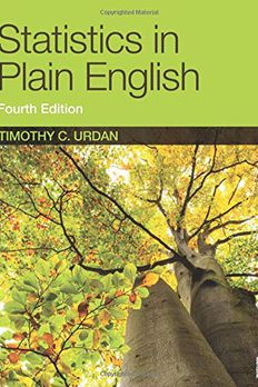 Statistics in Plain English, Fourth Edition book cover