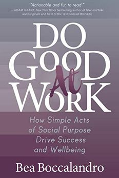 Do Good At Work book cover
