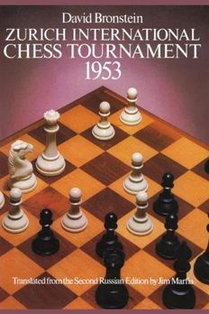 Zurich International Chess Tournament, 1953 book cover