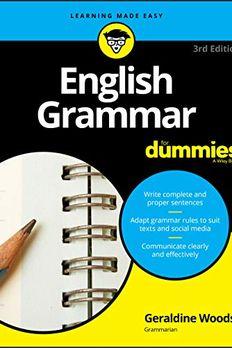 English Grammar For Dummies book cover