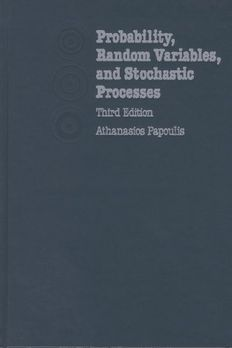Probability, Random Variables and Stochastic Processes by Papoulis, AthanasiosHardcover book cover