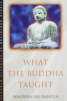 What the Buddha Taught book cover
