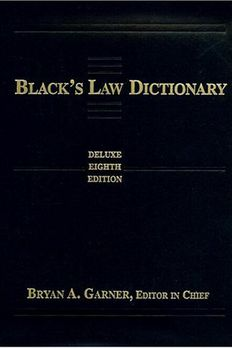 Black's Law Dictionary book cover