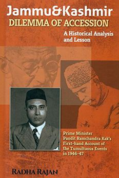Jammu and Kashmir Dilemma of Accession book cover