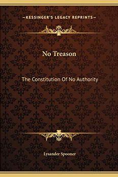 No Treason book cover