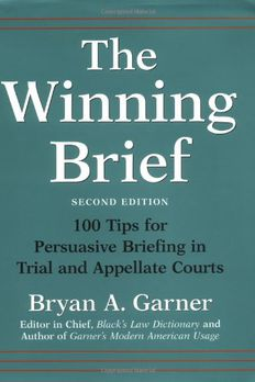 The Winning Brief book cover