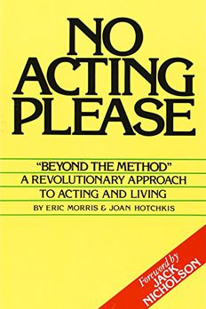 No Acting Please book cover
