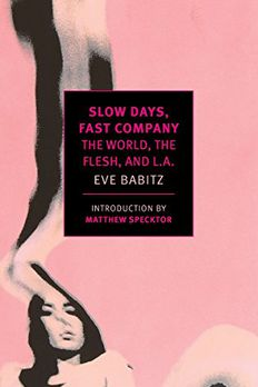 Slow Days, Fast Company book cover