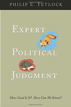 Expert Political Judgment book cover