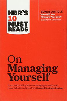 HBR's 10 Must Reads on Managing Yourself book cover