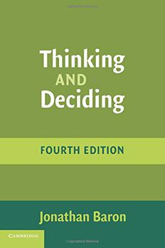 Thinking and Deciding book cover