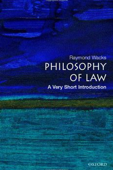The Philosophy of Law book cover
