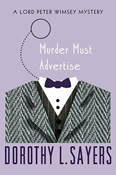 Murder Must Advertise book cover