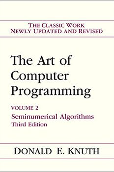 Art of Computer Programming, Volume 2 book cover