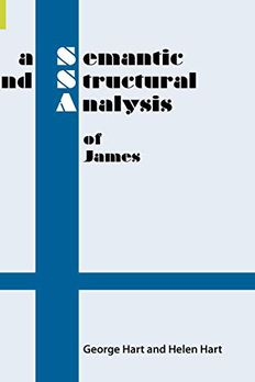 A Semantic and Structural Analysis of James book cover