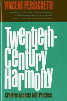 Twentieth-Century Harmony book cover