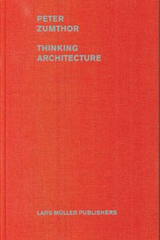 Peter Zumthor Thinking Architec book cover