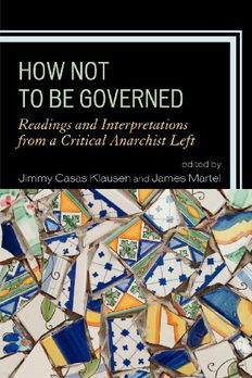 How Not to Be Governed book cover