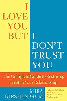 I Love You But I Don't Trust You book cover