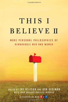 This I Believe II book cover