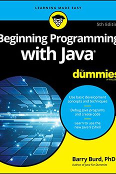 Beginning Programming with Java For Dummies book cover