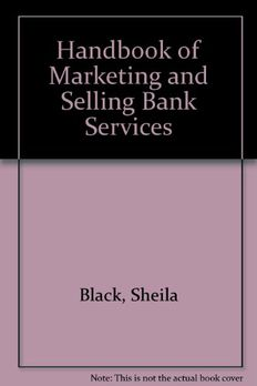 Handbook Of Marketing And Selling Bank Services book cover