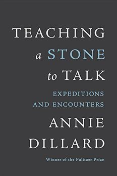 Teaching a Stone to Talk book cover