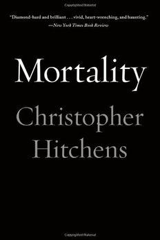 Mortality book cover
