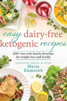 Easy Dairy-Free Ketogenic Recipes book cover