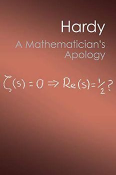 A Mathematician's Apology book cover