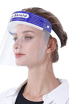 3pcs Safety Face Shield, All-Round Protection Headband with Clear Anti-Fog Lens, Lightweight Transparent Shield with Stretchy Elastic Band, For Eye and Face Protection book cover