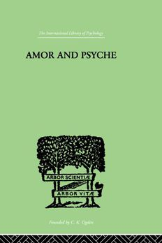 Amor and Psyche book cover