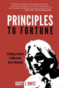Principles to Fortune book cover