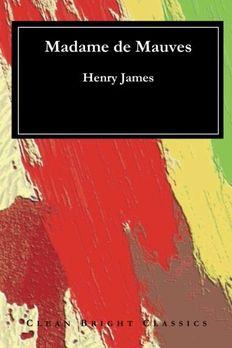 Madame de Mauves book cover