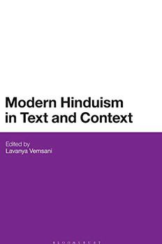Modern Hinduism in Text and Context book cover