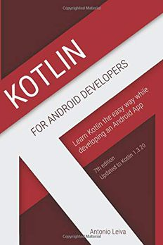 Kotlin for Android Developers book cover